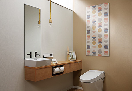 トイレにおけるPattern EDPK-1260/01使用イメージ